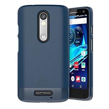 Encased Motorola Droid Turbo 2 Case  SlimSHIELD Edition  Ultra Slim Cover  Full Coverage  Hybrid Slider Shell  Deep Blue