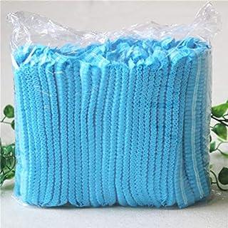 シャワー入浴サロン用青100個使い捨て不織布防塵キャップ - 青