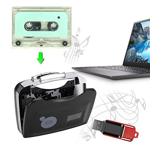 USB Convertidor Cinta a MP3 and Cassette Player,Walkman Cassette,Reproductor de Cinta de Audio Portátil para Grabar en MP3 o Windows