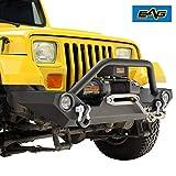 EAG Front Bumper with LED Light and Light Frames Rock Crawler Fit for 87-06 Wrangler TJ YJ