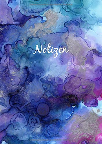 Notizbuch A5 Dotted: Dot Grid Notebook - Journal gepunktet | 110 Punktraster Seiten | Blanko Heft Für Bullet Journaling | Soft Cover Buch | Aquarell Blau