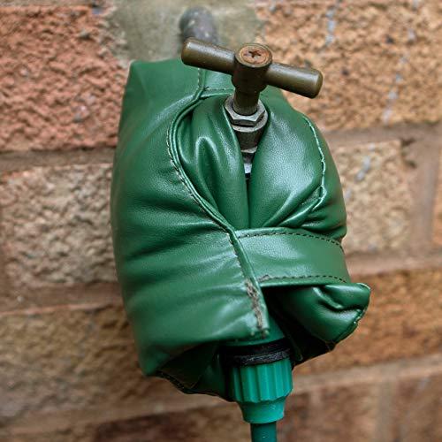 2 St. Wasserhahn Abdeckung Außen-Wasserhahn grüne Socken für Winter Außenbereich Frostschutz Isolierung Thermoschutz Garten-Wasserhahn