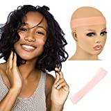 Silicone Headband For Wigs Transparent Fix Silicone Non Slip Wig Grip Head Band Comfort Elastic For Women (Light pink, L)