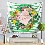 WERT Tapiz de Mandala Indio Hippie tapices para Colgar en la Pared Planta de pájaro Hoja de Cama para la Playa decoración del hogar Mantel A11 200x180cm