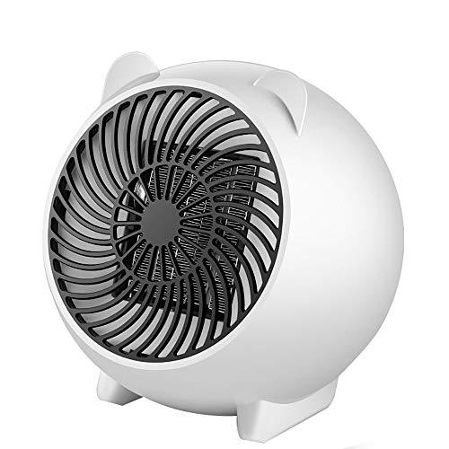TTAototech Termoventilatore, Termoventilatore elettrico portatile Mini ventilatore per stufetta, Riscaldatore personale efficiente da 500 W PTC con protezione da surriscaldamento e ribaltamento