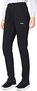 CAMELSPORTS Womens Joggers Fleece Sweatpants with Pockets Comfy Running Athletic Workout Sports Pants Black
