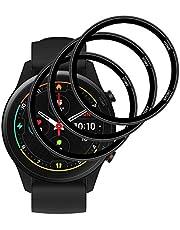 GEEMEE Voor Xiaomi Mi Horloge Xiaomi Smart Screen Protector HD PET Zachte film, 【 3 Pack】 【 Niet gehard glas】 Volledige dekking Anti-Bubble Protector Film Ontwerp Compatibel met Case