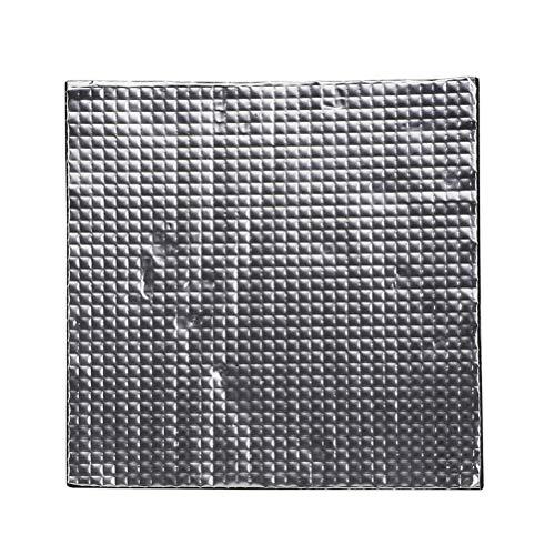 Hemobllo 3D Drucker erhitzt Bett Isolierung Schaum Baumwolle hochtemperaturbeständige Selbstklebende Isoliermatte 3D Drucker Zubehör - schwarz (400x400x10mm)