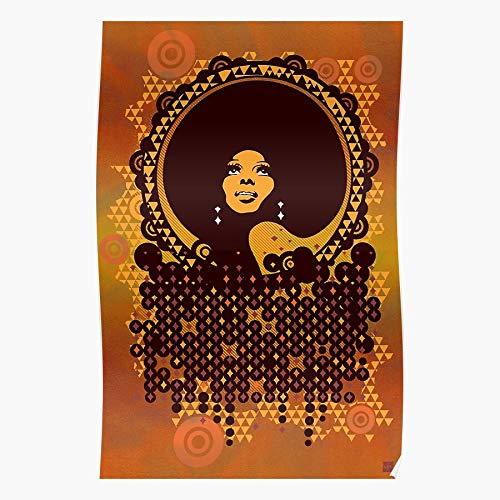 valungtung Retro Queen Afro Diana Summer Donna Dance 70S Ross Disco Print Modern Typographic Poster Girl Boss Office Decor Motivational Poster Dorm Room Wall