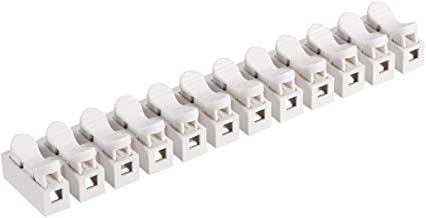 uxcell Spring Wire Connectors, Quick Connector Terminal Barrier Block, No Welding Screws 12 Positions 5pcs