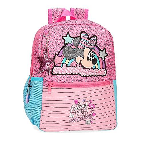 Disney Minnie Pink Vibes Mochila Rosa 25x32x12 cms Poliéster 9.6L