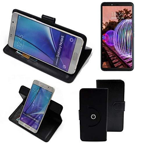 K-S-Trade® Case Schutz Hülle Für JVC J20 Handyhülle Flipcase Smartphone Cover Handy Schutz Tasche Bookstyle Walletcase Schwarz (1x)