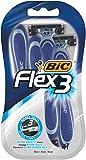 BIC Flex 3, Razors para hombres, Paquete de 4