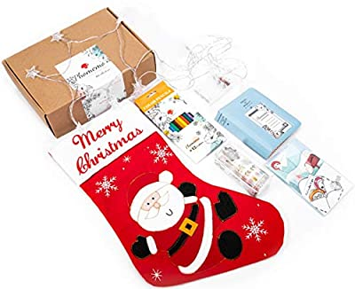 Phomemo Decorating Creative Gift Bags- Christmas Stocking,Gift Card, Pattern Stickers, Pencil, Star Light,Photo Album for Christmas, Holiday, New Year, Xmas