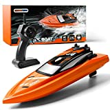 Gizmovine Remote Control Boats for Pools and Lakes, 2.4GHz High Speed RC Boats for Kids, Adventure Racing Boat Toys for Boys