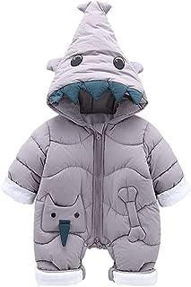 Fairy Baby Toddler Unisex Cartoon Shark Costume Romper Hood Jumpsuit Outwear Snowsuit
