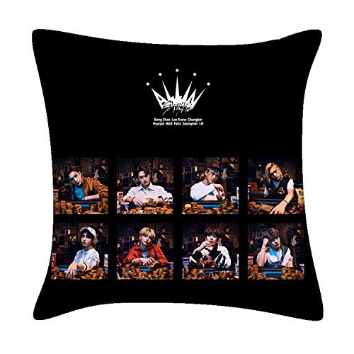 Xkpopfans Kpop Stray Kids Pillowcase GOT7 ITZY New Album Pillow Cover Set with Pillow Filling