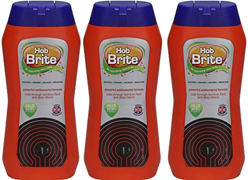 Hob Brite Ceramic, Electric, Halogen and Induction Hob Cream Cleaner, 300ml, Pack of 3