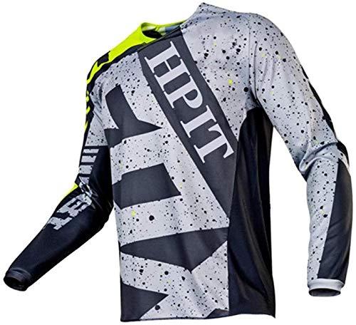 MTB Jersey Fox Camiseta de Manga Larga Motorcycle Mountain Bike Team Downhill Jersey MTB Bicycle Locomotive Shirt hpit Fox Jersey Cross Country Mountain 4XL