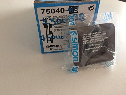 Simon - 75040-68 tapa enchufe bipolar s-75 grafito Ref. 6557538230