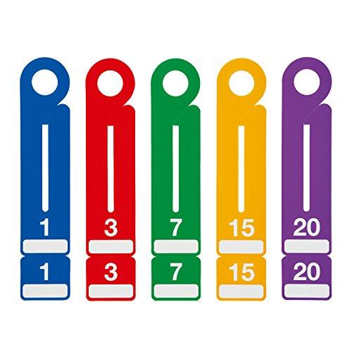 オープン工業 荷札 紙製 連番 100枚 BF-110 青/赤/緑/黄/紫