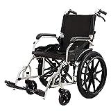 WZC Silla de ruedas de aluminio grueso, Plegable/Ligero/Empujar a mano/Portátil mayor/Viajes/Scooter/Inhabilitado, Silla de ruedas ligera 100Kg