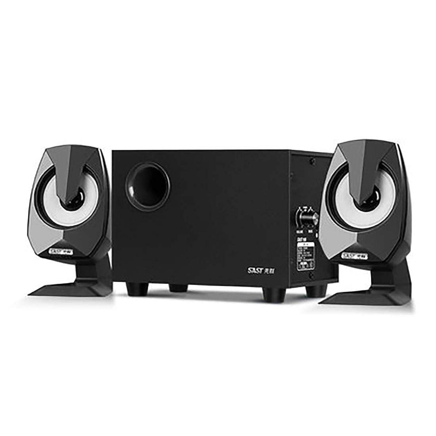 対称好き穿孔するXIONGHAIZI コンピュータのオーディオ家庭サブウーファーデスクトップコンピュータ小型スピーカーノートブックBluetoothサブウーファー 非常に良い音質 (Color : Black, Size : Standard model)