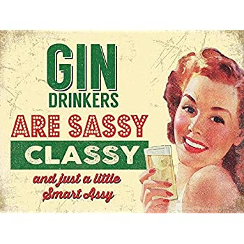 retro metal sign//plaque man cave pub bar home garage shed A4 gin and tonic
