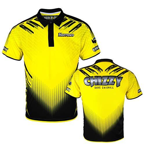 Harrows Darts Dave Chisnall Chizzy Signature Shirt Matchshirt Dart Shirt Trikot Design 2020 (5XL)
