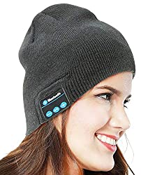 CHARMI HD Stereo Premium Sports Bluetooth Hat Wireless Smart Beanie Headset Musical Hands-Free Headphone Speaker Hat Speaker Phone Cap Microphone (Color May Vary)