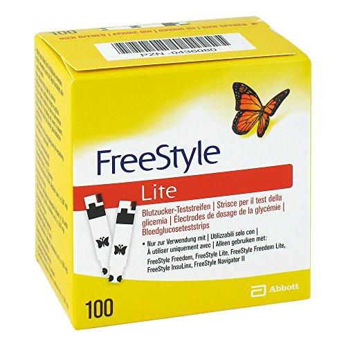 Abbott & Abbott Diabetes Car FREESTYLE Lite Teststreifen ohne Codieren, 1er Pack (1 x 100 Stück)
