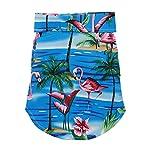 Dog Hawaiian Shirt Cloth,Pet Dog Summer Polo T-Shirt Puppy Cat Luau Outfits Costume for Small Medium Dog Boy Girl Beach Seaside Apparel Clothes (M:Back 26cm/Chest Girth 35cm, Crane-Blue)