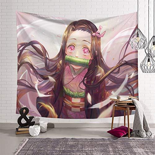 KOREYOSHIX Tapiz japonés de anime japonés para colgar en la pared, manta para colgar en la pared, decoración del hogar, 230 x 180 cm