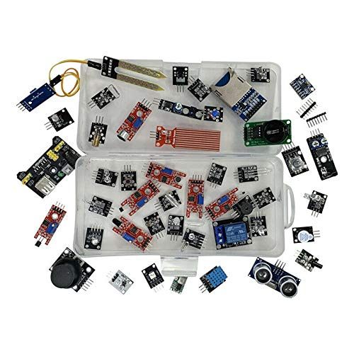 AKDSteel 1 set of electronic components 45 in 1 sensor module starter kit is better than 37 in 1 sensor kit 37 in 1 sensor kit UNO R3 MEGA2560 For arduino Boxed