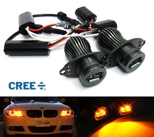 2x E90E913Serie Scheinwerfer CREE LED Angel Eye Halo Ring Light Amber