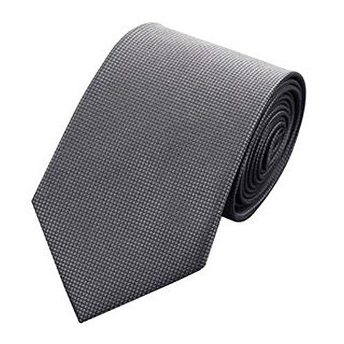 Jason & Vogue Designer Cravate en gris Gris ardoise avec fin Motif