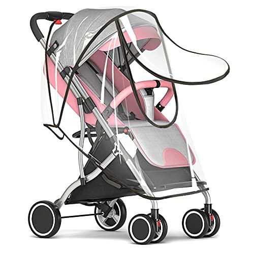 Protector de lluvia Universal para Silla de paseo,Fundas de lluvia para cochecito de bebé con Cremallera y Ventilaciones,sin PVC buena circulación del aire