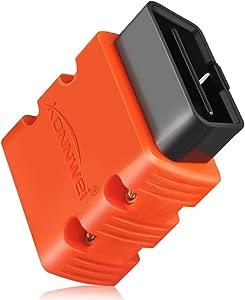 KONNWEI KW902 OBDII Diagnostic Tool Android Bluetooth Auto Diagnostic Scan Tool ELM327 OBD2 V1 5 Car Scanner Code Reader Support for All OBD2 Protocols  Orange