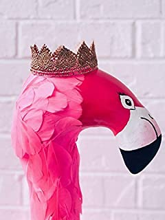 fake taxidermy flamingo