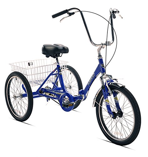 Kent Adult Westport Folding Tricycle, Blue