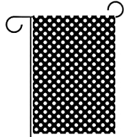 ガーデンヤードフラッグ両面 /12x18in/ ポリエステルウェルカムハウス旗バナー,水玉模様
