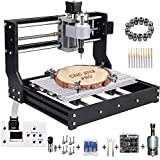 MYSWEETY Upgrade Version CNC 3018 Pro Engraver Machine, GRBL Control DIY Mini 3 Axis CNC Router Kit, Wood Router Engraver Pcb Milling Machine with Offline Controller + ER11 and 5mm Extension Rod