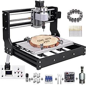 MYSWEETY Upgrade Version CNC 3018 Pro Engraver Machine GRBL Control DIY Mini 3 Axis CNC Router Kit Wood Router Engraver Pcb Milling Machine with Offline Controller + ER11 and 5mm Extension Rod