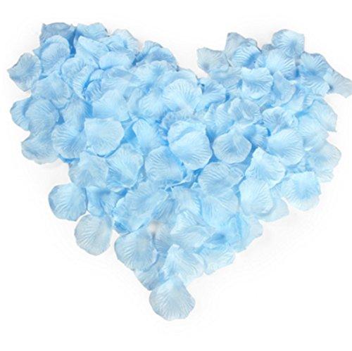 Qingsun 1000 Pétales de Rose en Soie pour Mariage Décoratifs Idéal pour Une Fête de Mariage-Couleur Bleu