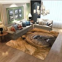 チャウチャウの肖像画 カーペット ズレ防止 大きいサイズ エリアラグ リビングルーム オフィス 廊下 キッチン 個々のパターン 室内装飾 Carpet 200 x 150 cm ( 80 x 58 inches )
