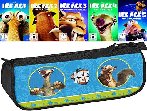 Ice Age 1 - 5 Collection (5er DVD-Set) + ein Federmäppchen (Motiv Ice Age)