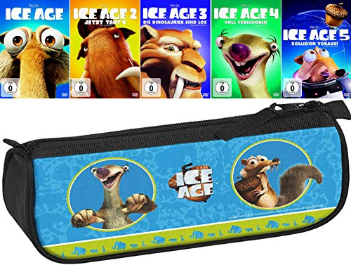 Ice Age 1 - 5 Collection (5er DVD-Set) + ein Federmäppchen (Motiv Ice Age) [Kein Box-Set]