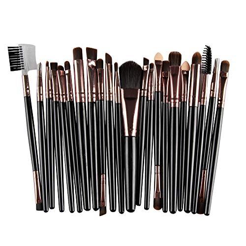Set De 22Pcs Pinceaux De Maquillage Professionnels jkhhi,Multifonctionnel,Pinceaux Maquillages Pour Les Yeux,Les LèVres,Ombre à PaupièRes Blush Sourcils Cils,Convient Aux DéButants