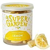 Supergarden Trozos de limón liofilizados - Producto 100% puro y natural - Apto para veganos - Sin azúcares, aditivos artificiales ni conservantes añadidos - Sin gluten - No OMG