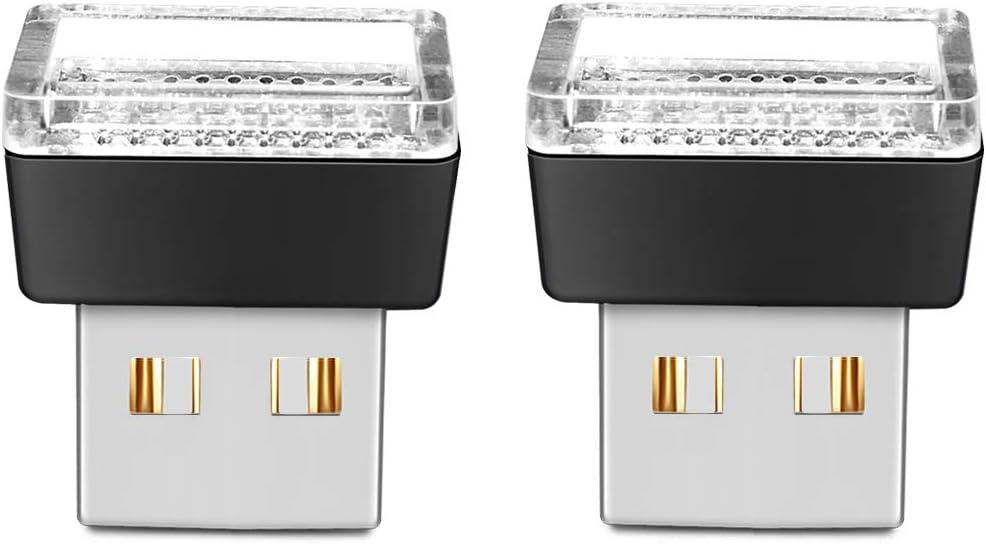 BukNikis USB Simple Atmosphere Lights USB Car Interior Accessories Lamp Universal (Blue, 2 pcs)